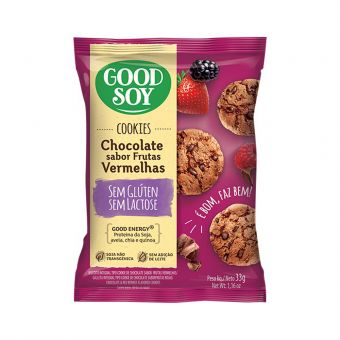 Cookies Chocolate Sabor Frutas Vermelhas 33G - Good Soy