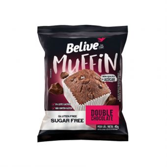 Muffin Double Chocolate 40G - Belive