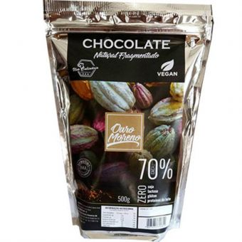Chocolate Natural Fragmentado 70% 500G - Ouro Moreno